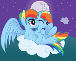 Rainbow Blitz x Rainbow Dash with Background by Jakage
