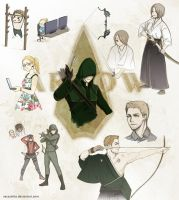 Arrow manga sketches by Vassantha