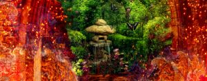 A Garden Amidst the Flames Detail 3 by amethystmoonsong