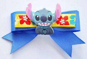 FOR SALE Chibi Bow: Stitch by Lokotei
