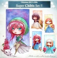 X-MAS 2011 : SuperChibiSet by Doria-Plume