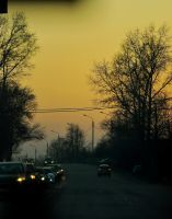 Evening road by LilithDarck