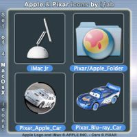 Apple and Pixar - Icons by iFab