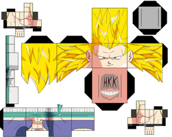 ss3 gotenks by hollowkingking