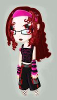 Gothic punk metal girl thing by Platynews