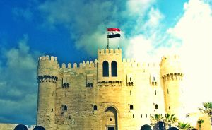 Egypt flag on The Citadel II by crazy4demi