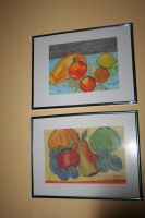 My pastell paintings  fruits by ingeline-art