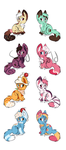 Kitty Treats Adopts - 6/8 OPEN by CheroPony
