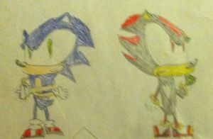 Yet ANOTHER Old Sonic Drawing by Forestarr