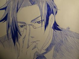 Claude Faustus ~ Ballpoint-Sketch by Jennux3