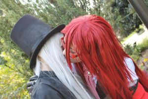 Grell x Undertaker: Kiss by PoeticPerson