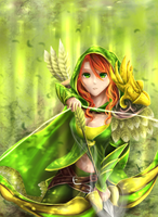 Paid Commission: Windranger by chalollita