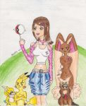 Kikulina pokemon trainer by Ranceles