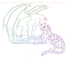 Panther And Leopard Sketch by WildSpiritWolf