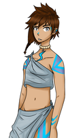 Human ver. of Fire-Loup's OC ECHO by NanoCodes