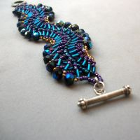 Waves Bracelet by eclecticpixie