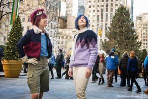 Digimon 02: Sightseeing at Rockefeller Center! by firewolf826
