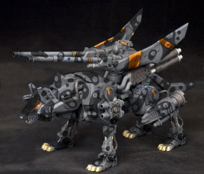 Zoids Command Wolf Urban Camo Colour Scheme by XantheUnwinArt