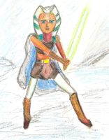 Ahsoka Tano in the snow by earlybird-obi-wan