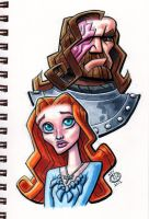 Sansa and the Hound by Chad73