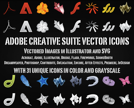 Adobe Vector Icons by Zeptozephyr