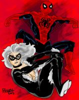 Spider-Man and Black Cat by fmvra1s