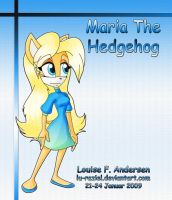 Maria the Hedgehog by lu-raziel