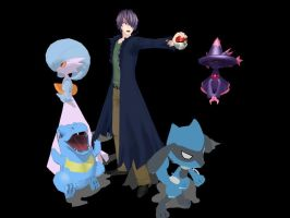 MMD - Garry as Pokemon Trainer by Deceitful96
