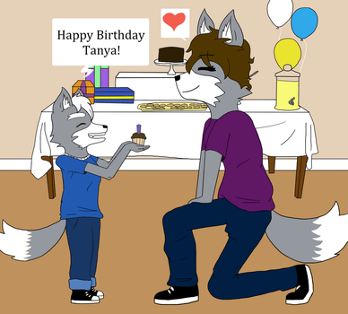 Happy Birthday Tanya by Foxsion