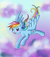 Rainbow Dash Flying by lotothetrickster