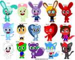 HTF OCs group part 1 by Fulin44