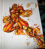 IRON.MAN with crayola markers by DegaSpiv