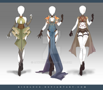 (CLOSED) Adoptable Outfit Auction 171-173 by Risoluce