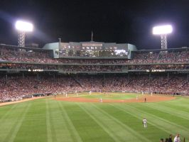 Fenway Park Outfield View by kkworker