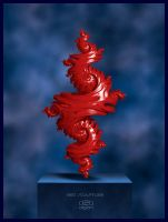 Red Sculpture by Direct2Brain