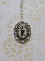 Necklace with pendant Black Lady by SteamJo