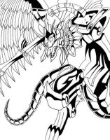 The Winged Dragon of Ra by akasha-kaiba