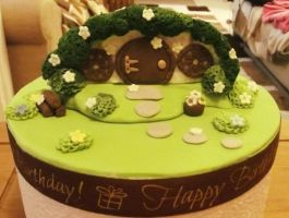 Bilbo's House, The Hobbit, Shire - Cake Topper by phantomsopera13