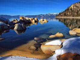 Tahoe Shoreline reflection by MartinGollery