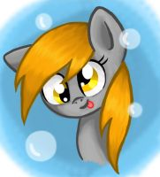 Bubbly Derpy by kittyxboo