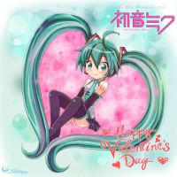 Hatsune Miku  Happy Valentine's Day by Darkness1999th