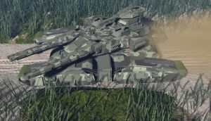 tank on track. by ex-pacifist