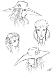 Vampire Hunter D sketches by Gothic-Diva