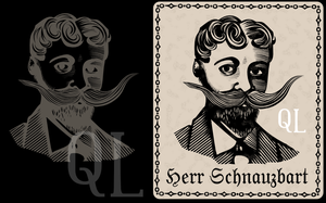 Herr Schnauzbart by QuicheLoraine