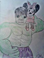 Minnie Hulk by brittlblackrose