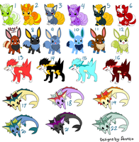 Mix pokemon adoptables - OPEN by Danniso
