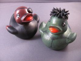 Nick Fury and Hulk Ducks by spongekitty