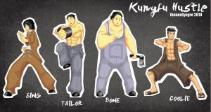 Kungfu Hustle Characters Pinup by thenerdyogre