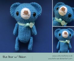 Blue Bear Amigurumi by Keito-San