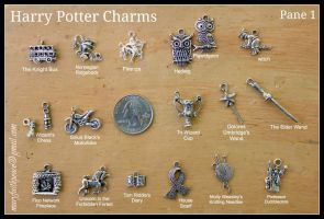 Harry Potter Pewter Charms EXTENSIVE Collection by maryfaithpeace